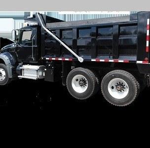 Aero Easy Cover, Model 575 Installed on a Black Dump Truck