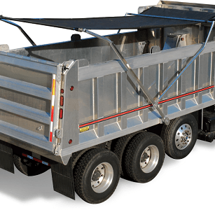 Aero Easy Cover, Model 575 with Second Arm on an Alumium Dump Truck