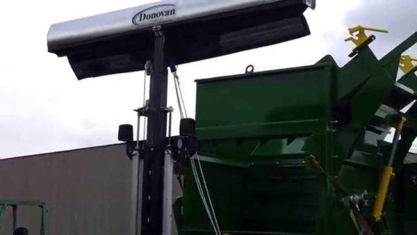 Gantry for a Donovan HY-Tower single leg armless tarping system.