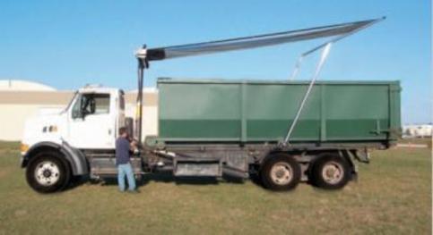 Donovan Quick Flip 3 on a multi axle hoist lift roll off truck.