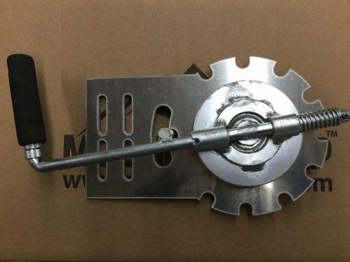 Mountain Tarp, Tarp -N-Go, manual hand crank assembly with spider wheel lock plate.
