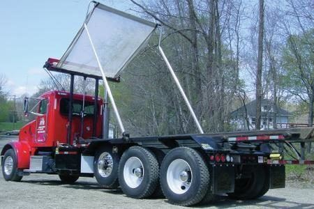Pioneer Econocover HR1500 on a tri axle hoist lift roll off truck.