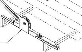 CAD drawing Pioneer Rack-N-Pinion swing arm assembly.