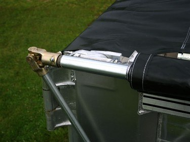 Shur Co, Shur-Lok side roll tarp system, hand crank assembly and universal joint.
