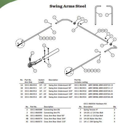 Aero Easy Cover, Steel Swing Arm Parts
