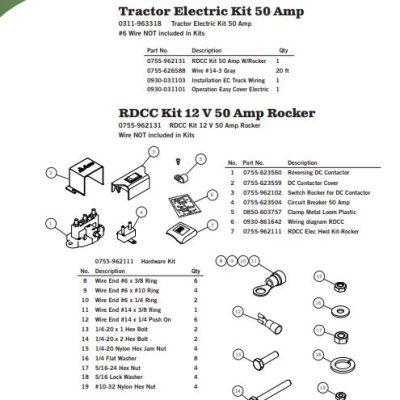 Aero Reversing DC Contact Rocker Switch Kit, 12VDC