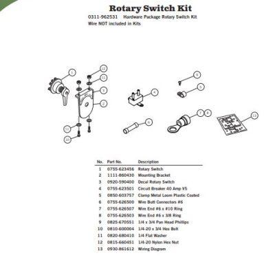 Aero Tarp Motor, Rotary Switch Kit