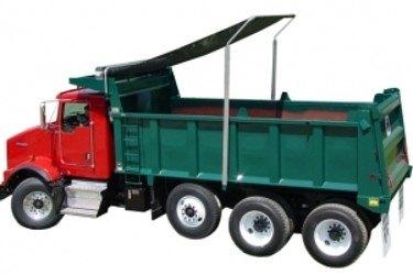 Pioneer A2100 Flip Tarp system on a tri axle dump truck