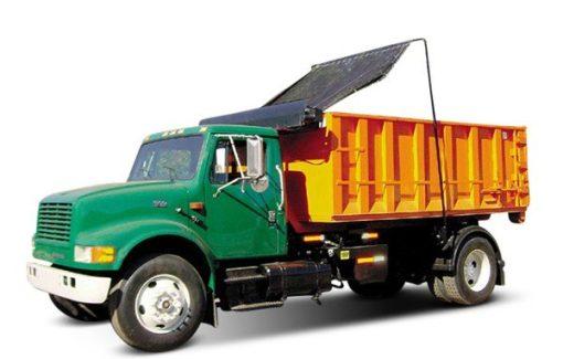 Pioneer HR1500 Tuff Tarper on a single axle roll off truck