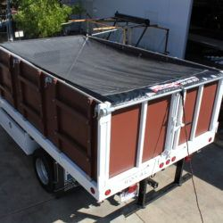 Pulltarps open system on a box truck