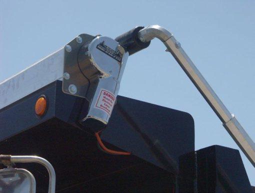 Mountain Tarp Tarp Motor installed on a dump body