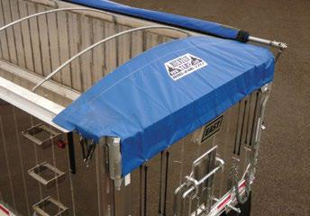 Mountain Tarp, side roll tarp system with bow style rear bonnet.