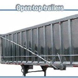 Mountain Tarp double spring and arm assembly installed on an aluminum trailer