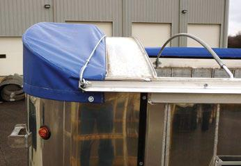 Mountain Tarp, nose bonnet with master bow for side roll tarp systems