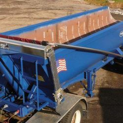 Mountain Tarp top mount and southern spec flip tarp system for trailers under 29' long with ground level hand crank