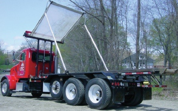 Pioneer Econo Cover on a roll off truck
