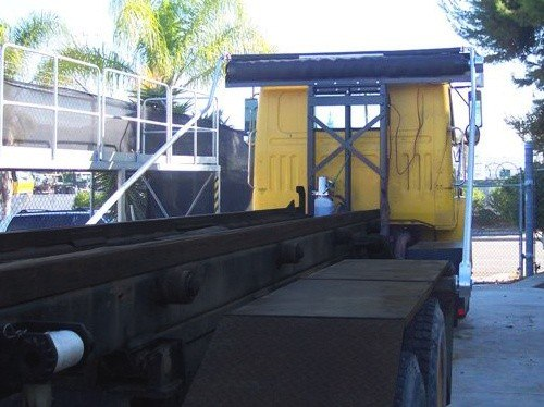 Pulltarps Tower System shown with optional swing arms.