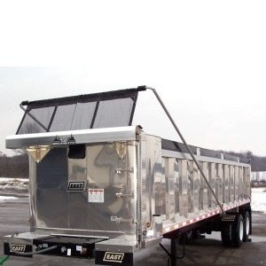 Mountain Tarp KTM and KTE Flip Tarp System on an Aluminum Dump Trailer