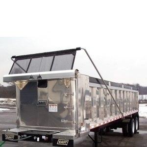 Mountain Tarp KTM and KTE Flip Tarp System on an Aluminum Dump Trailer