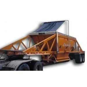 Mountain Tarp, Model KBCM or KBCE on a Belly Dump Trailer