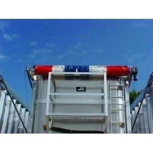 Mountain Tarp Model KDDE Flip Tarp System on an open top trailer