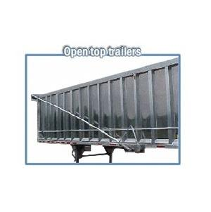 Mountain Tarp Model KDDE Flip Tarp System for Open Top Transfer Trailers up to 45' long