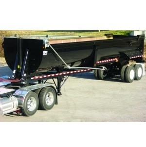 Mountain Tarp KSM and KSE Flip Tarp System on a Half-Round Dump Trailer