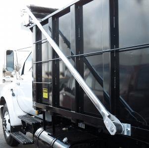 Patriot Flip Tarp system on a black dump truck