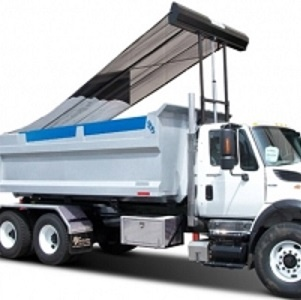 Pioneer HR2000 Armless Tarping System for roll-off refuse trucks