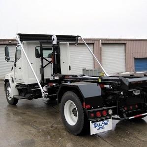 Roll-Rite DC200 Auto Tarper on a Hook Truck