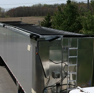 Aero Lid II, Automatic Transfer Trailer Covering System in the Closed Position