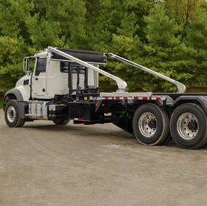 Aero, AeroForce ROC, Roll Off Container Tarp System with Straight arms on a Hoist Lift Truck