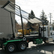 Pioneer RP4500SARG Installed on a Cable Hoist Roll-Off Truck